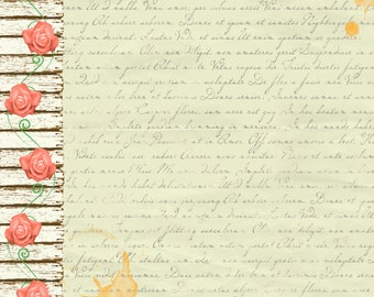 BoBunny Aryia's Garden POETRY 2 Pieces 12x12 Double-sided Heavy Weight Cardstock 21001886