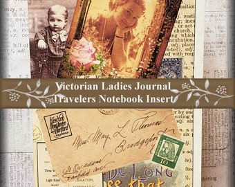 Travelers Notebook Insert  Victorian Notes Travelers Notebook Insert Parchment Paper Travelers Notebook Insert  11 Travelers Notebook Sizes