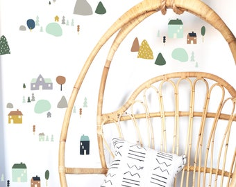 Wall Decal - Fairy Tale Village - Secondary - Wall Sticker - Room Decor