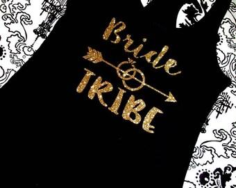 Bride Tribe Racer Back Tank, Bride to Be, Bride Tank, Bride Tribe, Gift For Bride, Bridesmaids Gift, Bachelorette, Bridal Shower Gift, Bride