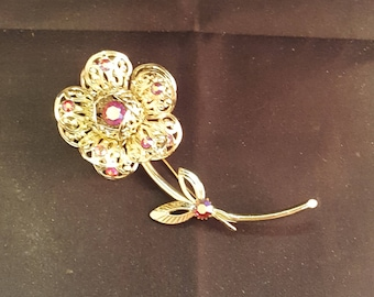 Sarah Coventry 1961 Fashion Flower Line Brooch