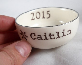 HANDMADE RING DISH personalized Mothers Day gift, wedding ring holder, engagement ring dish, gift for wife, bridal shower gift