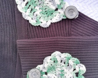 Sew or stick on clothing or accessories crochet appliques