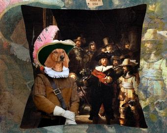 Dog Pillow - Dachshund Pillow Case - Dachshund Pillow Cover - Dog Pillow Cover -Dachshund Gifts - Dachshund Art