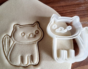 Neko Atsume Cookie Cutter / Fondant Cutter / Cat Cookies / Kitty Collector