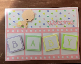 Baby Girl card with envelope