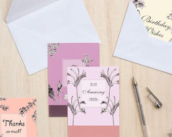 Various Occasion Cards - 5 pack