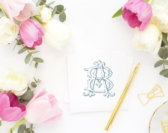 Wedding Monogram | Vintage Monogram - Wedding Logo, Monogram - Custom  Wedding Monogram - BA or AB