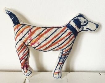 Handprinted decorative dog