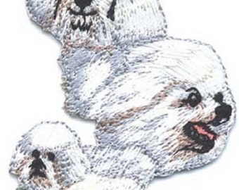 Embroidered BICHON FRISE Dog Breed Iron-on/Sew on Patch Badge Applique DIY