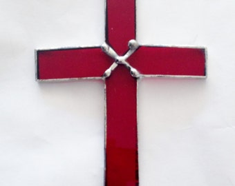 Crucifix, Stained Glass suncatcher, Each beautiful cross is Handmade!