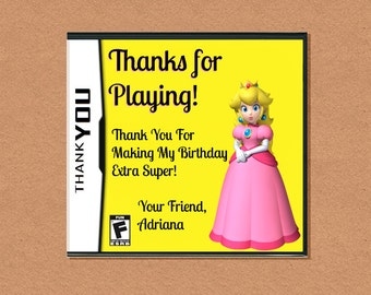 DIY Printable Video Game Princess Thank You, Video Game Party, Gamer Birthday Party, Video Game Birthday, Customizable Invitation