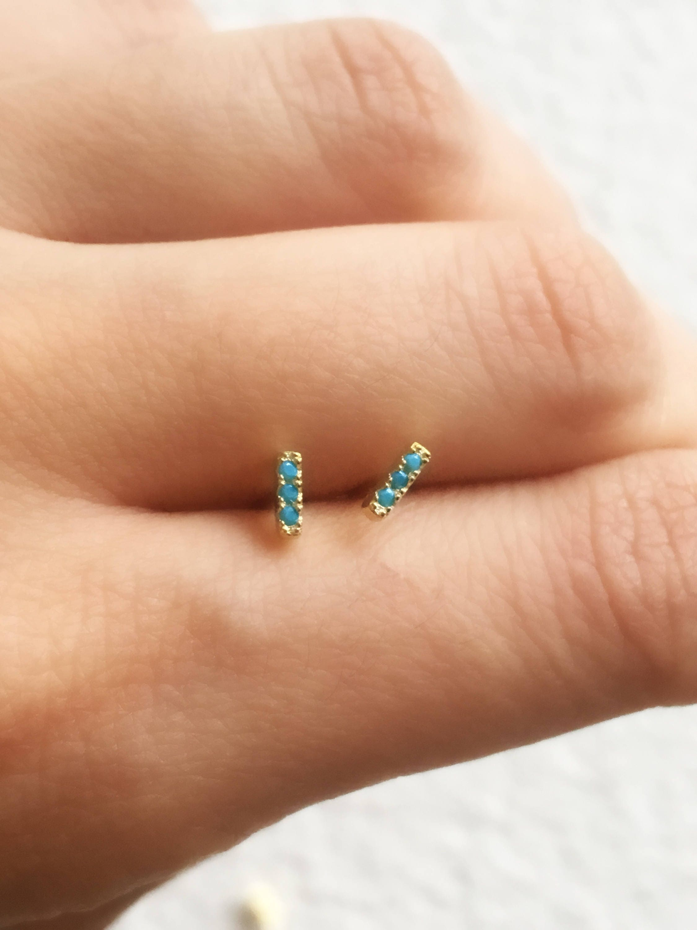 turquoise part as studs products the otiumberg gold solid stud pair of a collection