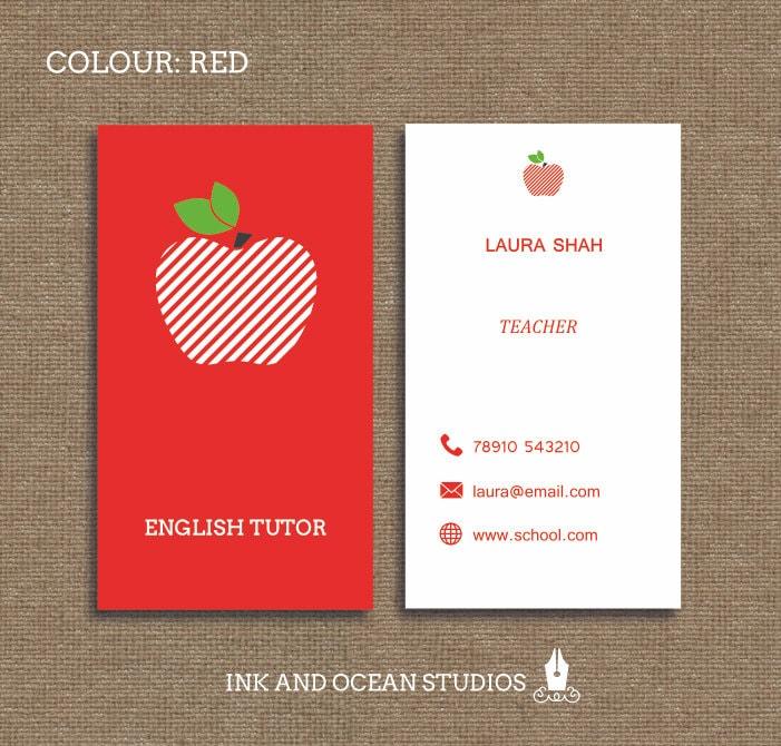 Printable stylish elegant teacher tutor education business zoom colourmoves