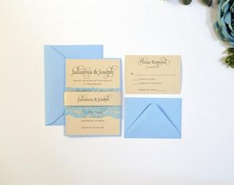 Rustic Wedding Invitations, Wedding Invitation, Kraft Wedding Invitation, Blush Wedding Invitation
