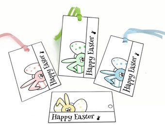 Easter bunny gift tags printable easter tags easter easter printable tags easter bunny gift tags easter printables easter favor tags negle Choice Image