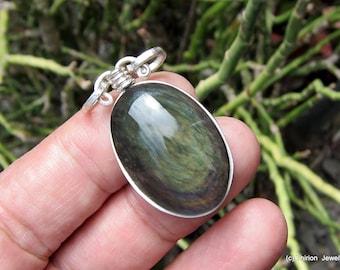 gemstone jewelry obsidian necklace obsidian pendant