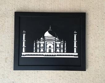 3D Stencil | Taj Mahal