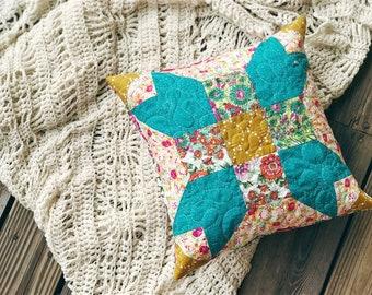 La Fleur Pillow Cover, Granny Chic Home Decor, READY TO SHIP