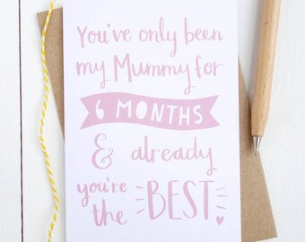First Mothers Day Card - First Mothers Day Gift - Mothers Day Card for New Mum - Personalised Mothers Day Card - Mother's Day Card