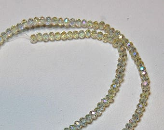 150 Clear Faceted Crystal Rondelle beads 4mm