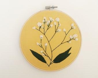 Baby's Breath Embroidery Hoop Art