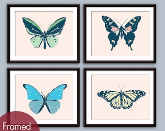 Vintage Butterfly Fantasy Collection - Art Prints (Featured in Assorted Colors) Insect Modern Prints