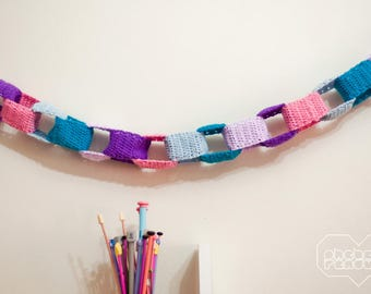 Crocheted Paper Chain Garland