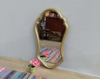 gold mirror resin raw , retro, antique gold 1960