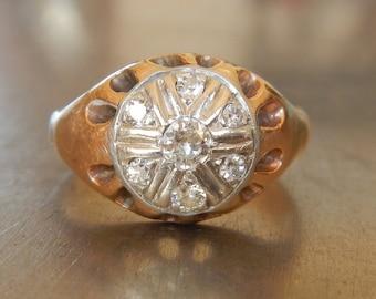 Vintage Diamond Ring - 1930s Engagement Ring - Art Deco Engagement Ring - Antique Engagement Ring - Platinum Diamond Engagement 18k Gold