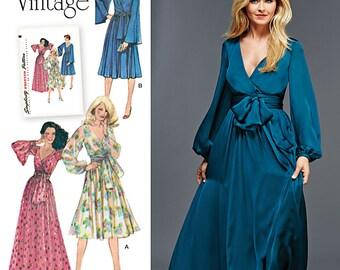 Simplicity 8013 Pattern Misses' Vintage 1970's Dresses