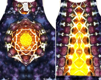 Large Tie Dye Sunset Mandala Crop Top