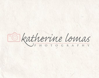 Photography logo design photography watermark heart logo camera logo. Instant download DIY psd logo template