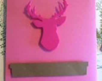 Pink Deer Head Treat Bags (12)
