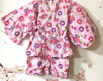 Toddler Girl Kimono, Cute Outfits For Girls, Pink With Floral Design, Baby Kimono, Child Kimono, Baby Gifts, Baby Jinbei, Photo Prop Idea