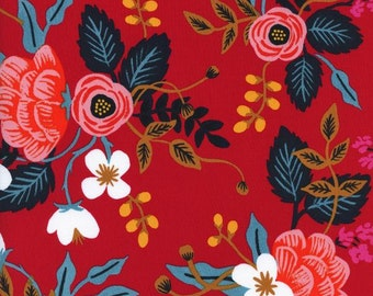 Birch floral Rayon in Enamel from the Les Fleurs collection by Rifle Paper and co for Cotton and Steel