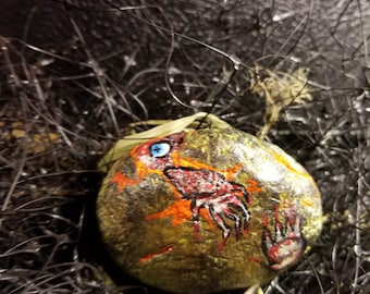Crevan: Hand painted Dragon Eggs-- Eyes glow!