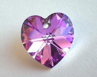 Vitrail Light 18mm heart Swarovski crystal pendant