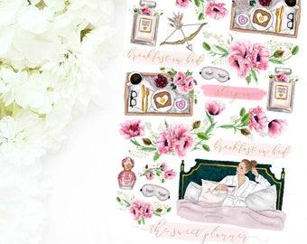 BREAKFAST IN BED | Floral Deco Sticker Sheet