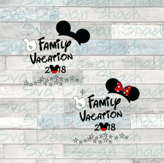 Disney Family Vacation 2018 Color SVG DXF EPS Studio 3 Png From Svgdesignshack On Etsy