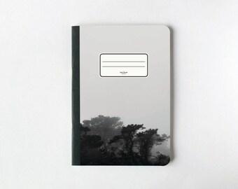 Noir pages Jungle carnet de notes - pages vierges: Journal - carnet de croquis - - doublé