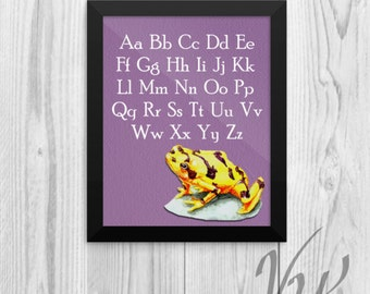 ABC Poster Homeschool Alphabet print Tree Frog wall sign nursery room decor decoration Must have teacher student elementary gift home school