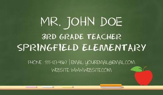 Teacher business cards substitute teacher business cards colourmoves