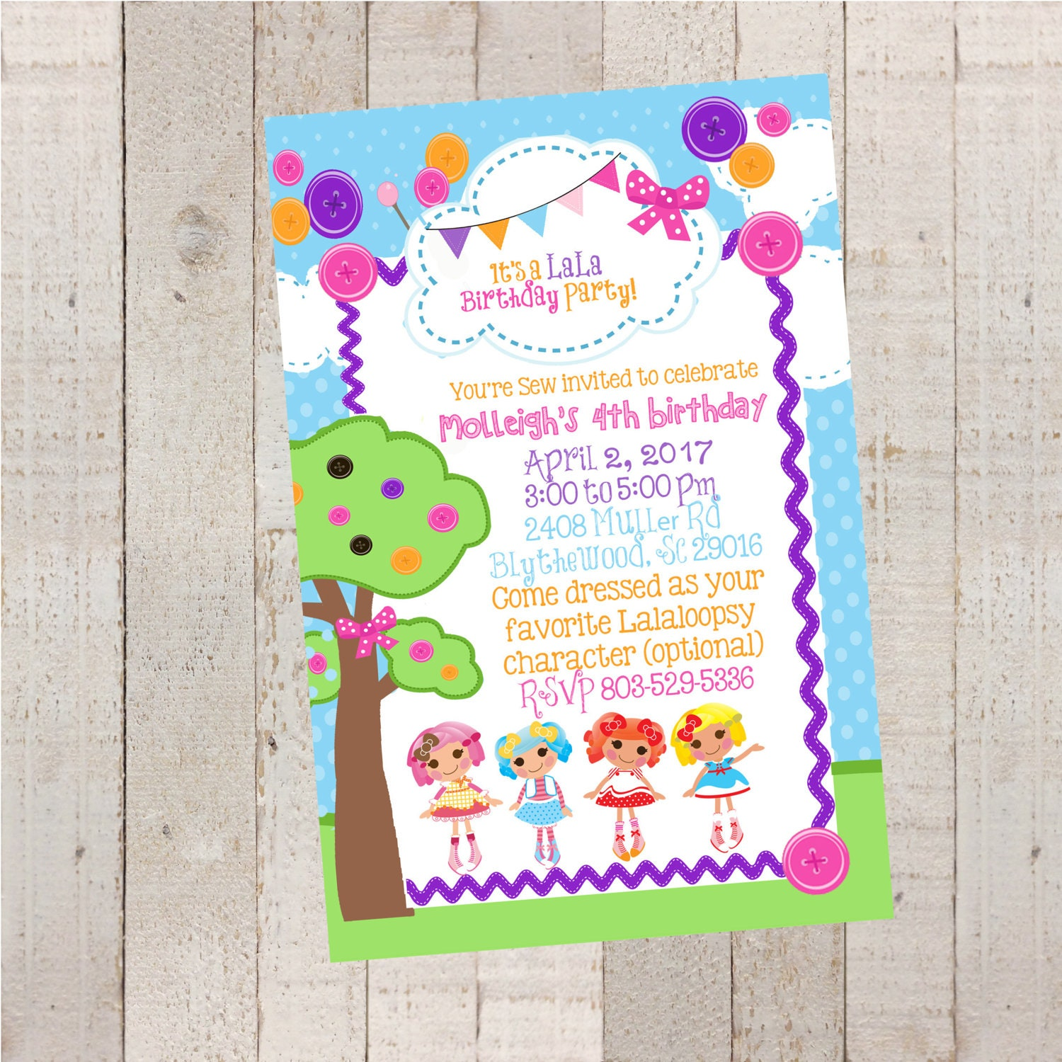 Lalaloopsy Birthday Invitations Birthday Birthday