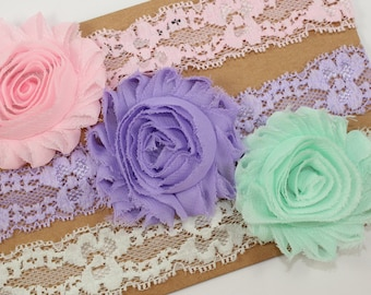 Lace Headband Set, Lace Headbands Baby, Lace Headbands Women, Rustic Headbands, Baby Girl Headbands, Newborn Headbands
