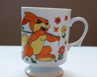 Thumper Mugs - Set of Two - Made in Japan - Vintage Disney Mug