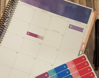 Bill Expense Tracker Monthly Planner Budget Financial Removable Stickers #S051