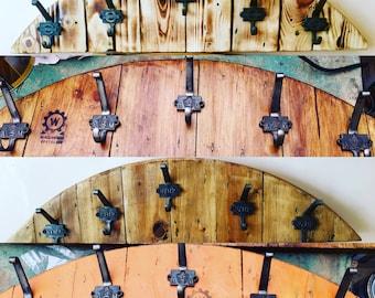 Bespoke Wooden Coat Hook Rack Hanger Industrial Rustic Cable Drum Reel Upcycled