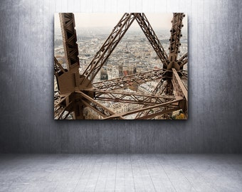 paris photography, travel photography, eiffel tower, france, french home decor, neutral tones, beige, brown / paris framed