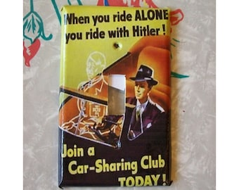 Propaganda switch plate cover WWII poster retro vintage World War 2 kitsch switch plate